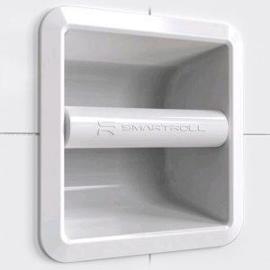 world s top magnetic recessed toilet roll holder smartroll. Black Bedroom Furniture Sets. Home Design Ideas